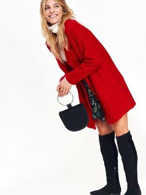 c3ad0c76fb Top Secret Kabát dámský vlněný v červeném odstínu
