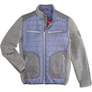Almgwand Pánská bunda se stojáčkem a krojovým motivem DEFAULT INVALID  modrá-šedá a210c4df84