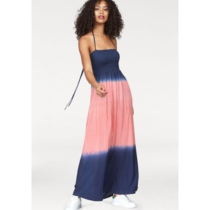 46629a8a52b6 LTB Dlouhé šaty »Rota« LTB námořnická modrá-růžová