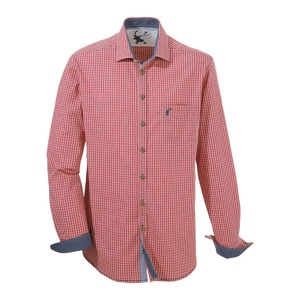 OS-Kostkovaná košile s knoflíky rohovinové vzhledu DEFAULT INVALID červená fe91544611