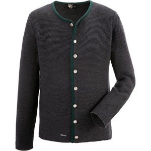 Krojový pletený svetr pánský DEFAULT INVALID šedá e48b2451a2