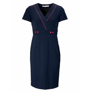 ASHLEY BROOKE by Heine Tvarovací pouzdrové šaty s jehlovými pruhy Ashley  Brooke by heine námořická modrá 1f5679d518