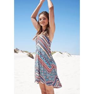 215efd66772d KangaROOS Letní šaty KangaROOS vlněná bílá-tyrkysová-červená
