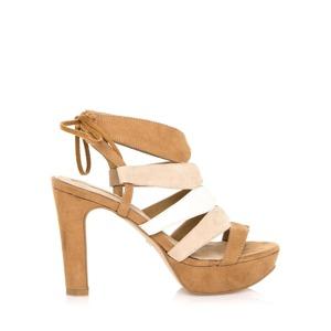 64defc2c85eb Hnědé extravagantní sandály Maria Mare