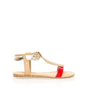 4e35d7f05f75 Červeno-zlaté korkové letní sandálky MARIA MARE
