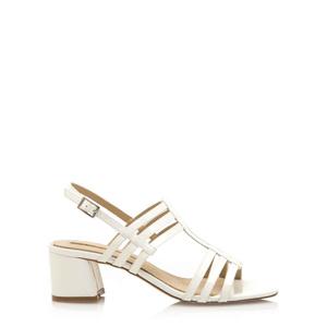 8e1dadacef16 Bílé sandály s širokým podpatkem Maria Mare