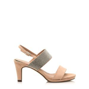 0e628f2f3 Béžové sandálky se širšími pásky Maria Mare
