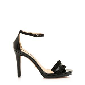 122fe19d0 Černé sandálky na vyšším podpatku Maria Mare