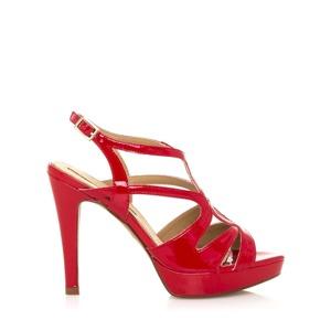 cad5badd25 Červené páskové sandály s nízkou platformou Maria Mare