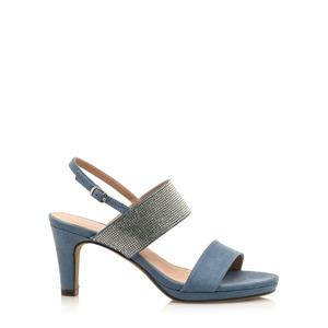 cf91b504b Modré sandálky se širšími pásky Maria Mare