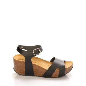 64fa9e3fd Kožené korkové sandály na platformě EMMA Shoes