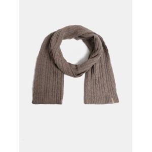 Hnědá dámská pletená šála s příměsí vlny GANT 5bab35a16b