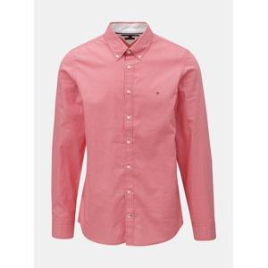 af7a73162aae Červená pánská slim fit košile Tommy Hilfiger Diamond