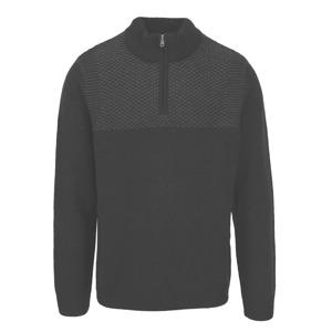 Šedo-černý svetr se stojáčkem Burton Menswear London d74a83f3cc