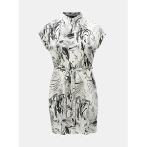 db16285c857e Černo-bílé vzorované košilové šaty Dorothy Perkins Curve