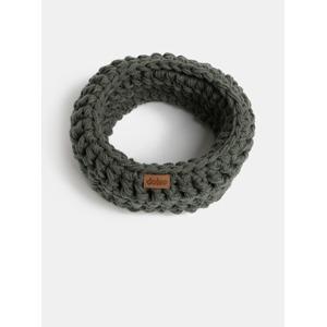 Tmavě šedý pletený nákrčník DOKE 2a0cb6bd88