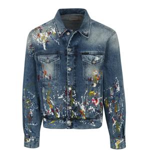 Modrá pánská džínová bunda s potiskem Calvin Klein Jeans b66e9b4371