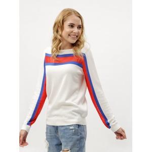 4fc13f8793d2 Bílé dámské svetrové tričko s dlouhým rukávem Tommy Hilfiger