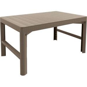 1f885c8d8e93 Zahradní plastový stůl LYON 116 x 72 cm - cappuchino