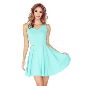 e0422ba4bfbc Mátově zelené šaty s kolovou sukní MM 014-4