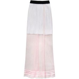 918e15caf9c3 Prodyšná růžová plisovaná sukně (98ART)
