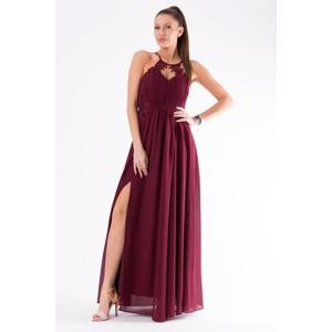 2f392408d9ac Tmavě fialové šaty EVA   LOLA 54007-3