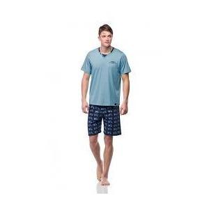 94f5b7800 Pánské pyžamo 00-15-7364-423 modrá - Vamp