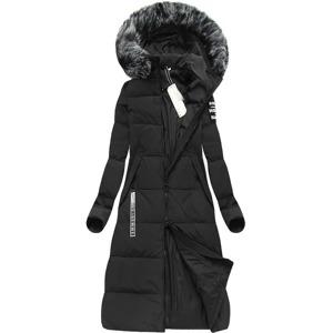 d1ad7874f4 Černý zimní kabát s péřovou vycpávkou (7078)