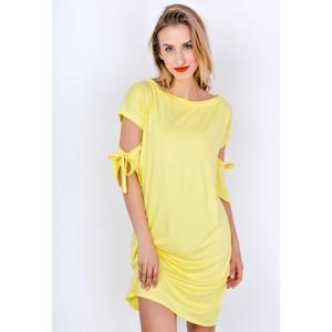 15d4671de387 Dámské letní šaty s vázáním na rukávech