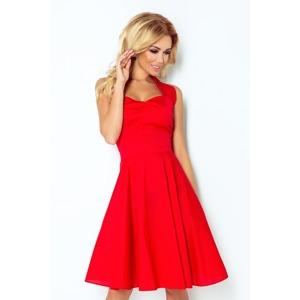 f8147c510f19 Červené rockabilly pin up šaty s knoflíky 30-18
