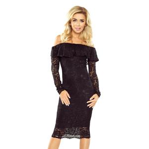 72fce7608e13 Černé krajkové šaty s dlouhým rukávem