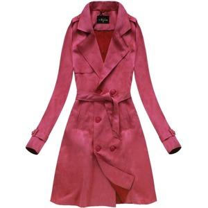 7652e2b897 Červený dámský dvouřadý kabát (6003)