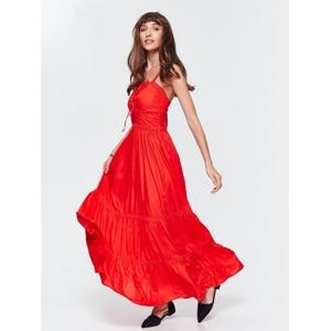 0c6c1f3e6e66 Top Secret šaty dámské dlouhé červené na ramínka