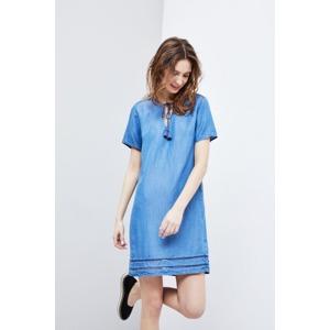 da6208b16be7 Moodo šaty dámské jeans s krátkým rukávem