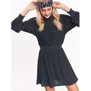 1dbd77d04612 Top Secret šaty dámské černé s puntíky a dlouhý rukáv