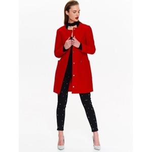 3185ee9417 Top Secret Kabát dámský červený s kruhovým výstřihem
