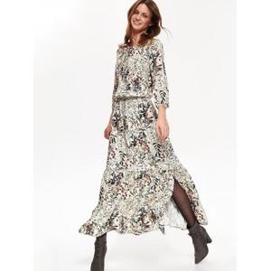 ef105b521925 Top Secret Šaty dámské květované MAXI s dlouhým rukávem