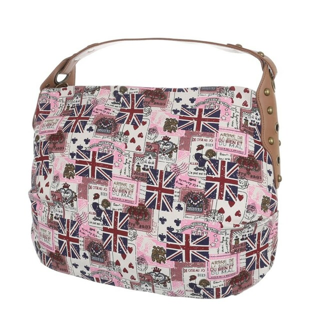 Kabelka K-Fashion British Jack HOBO - růžová