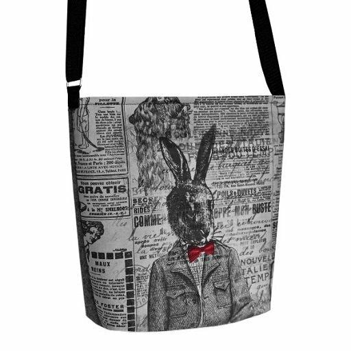 Filcová taška přes rameno Mr.Rabbit - šedá