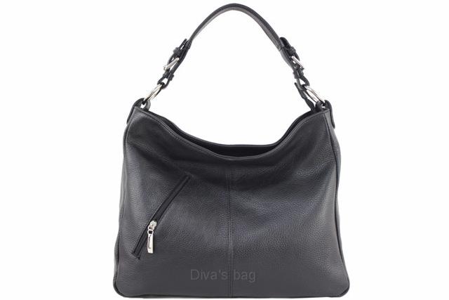 Kabelka Fashion Elens kožená - černá - černá