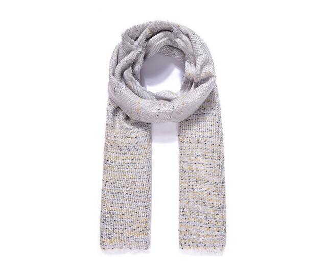 Luxusní šátek Queene - šedý
