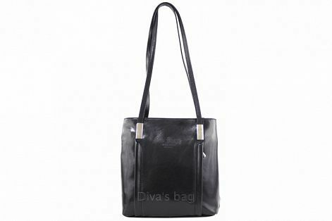 Kabelka batoh Cereta kožená - černá