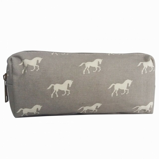 Pouzdro Horse Mania - šedé - šedá