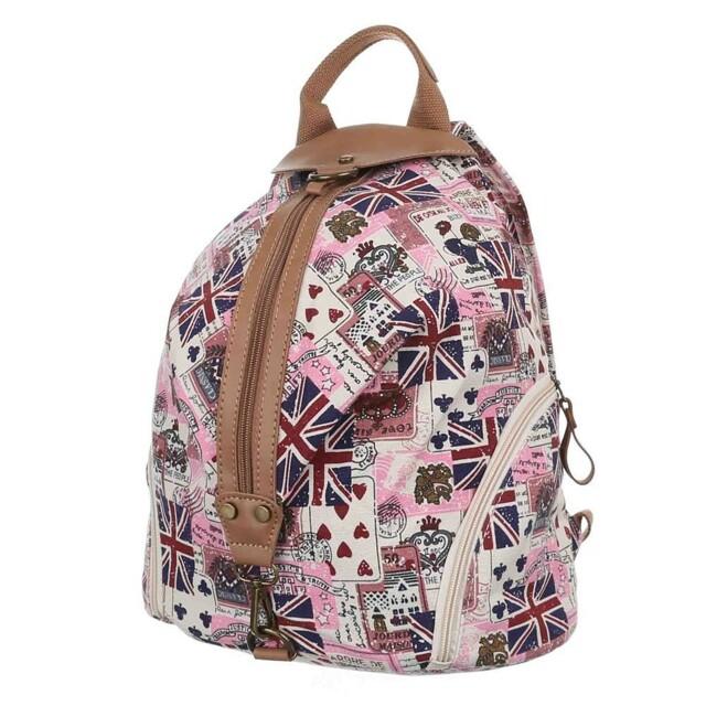 Batoh K-Fashion British - růžový