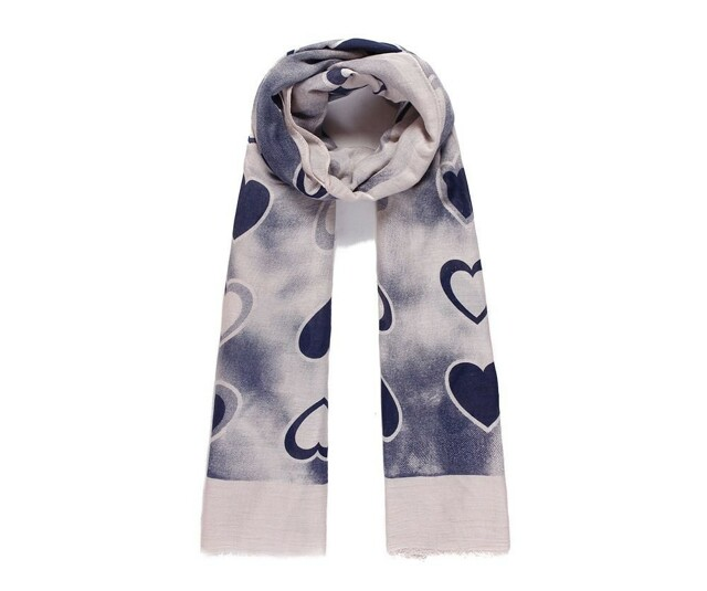 Luxusní šátek Hearts Blue