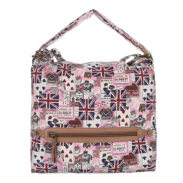 Kabelka K-Fashion British Jack HOBO II. - růžová