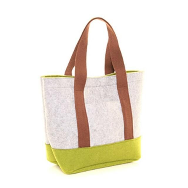 Filcová taška Felt Shopper - zelená