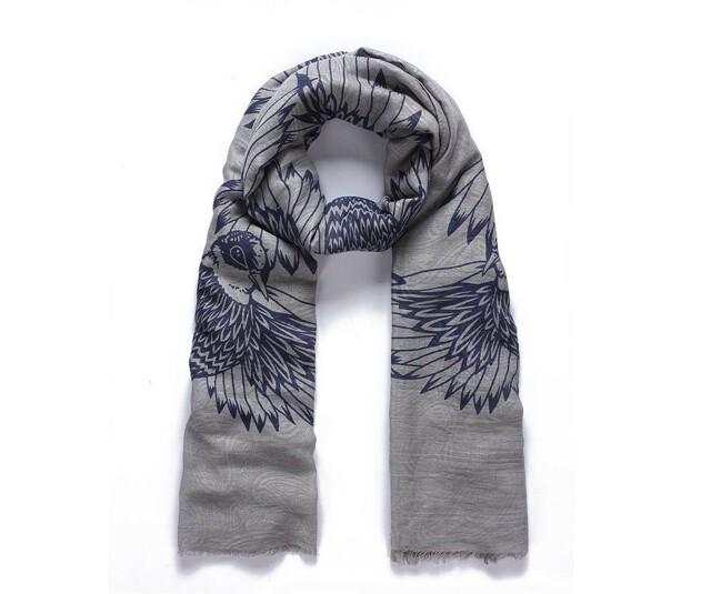 Luxusní šátek Wild Bird grey