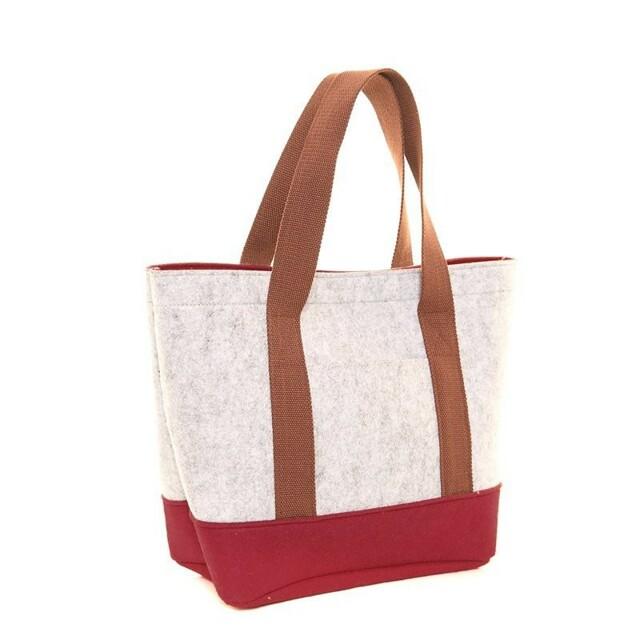 Filcová taška Felt Shopper - vínová