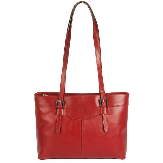 Kabelka Milano Vera kožená - červená